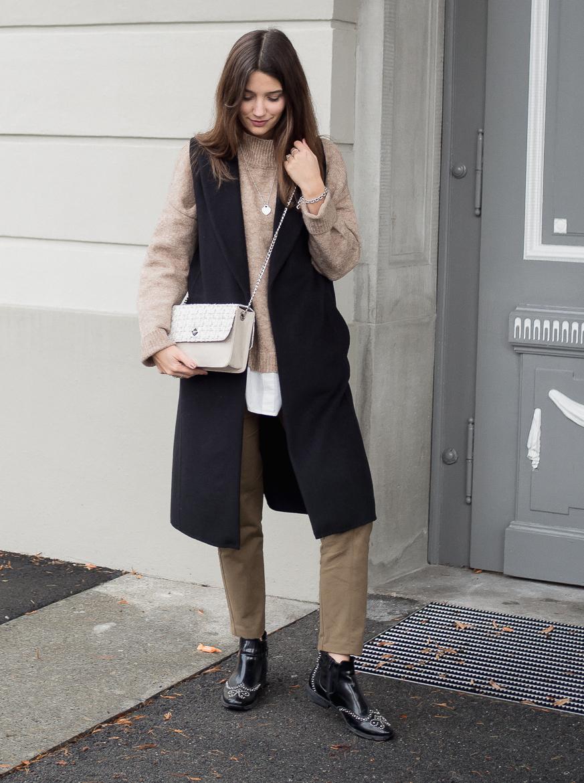 Outfit De Marquet Bag und schwarze Weste