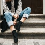 Spitze Boots und weite Jeans Culotte