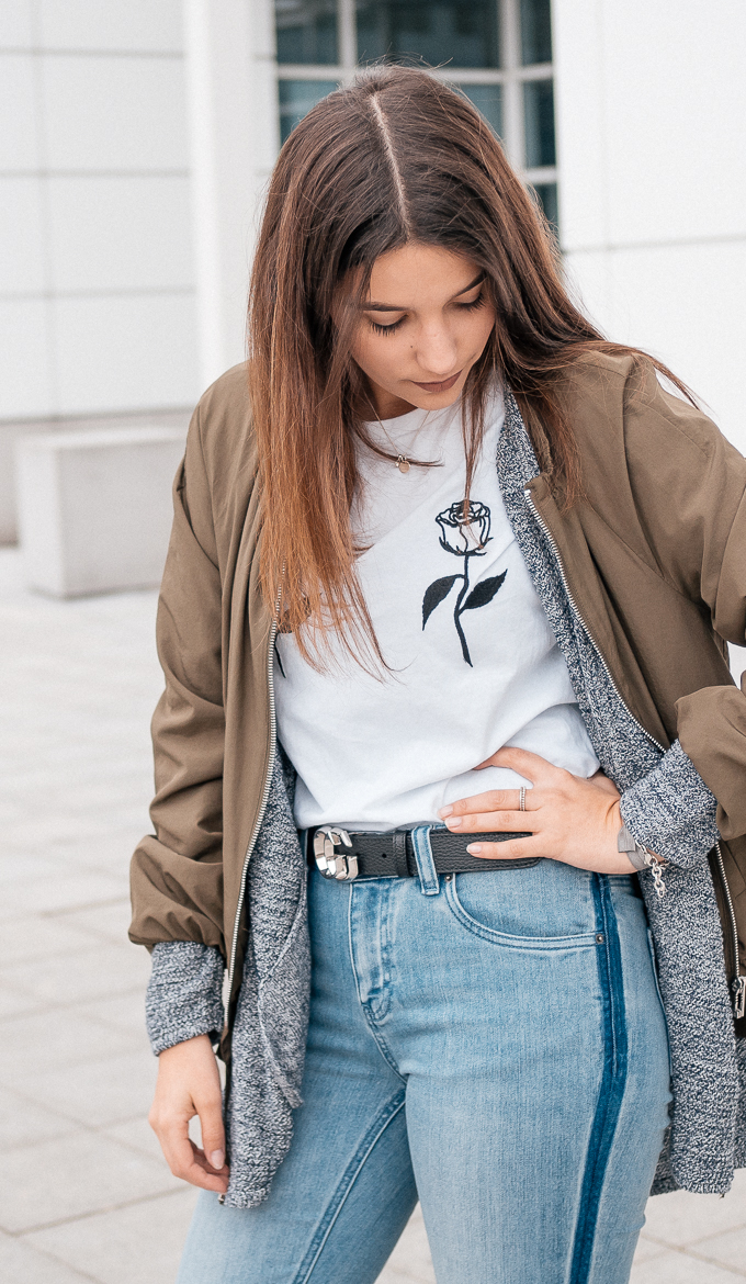 Denim Outfit and Logo Shirt