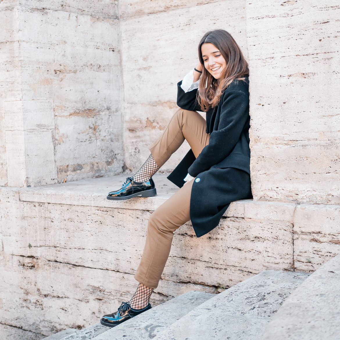 Rome Travel Look Lack Schuhe