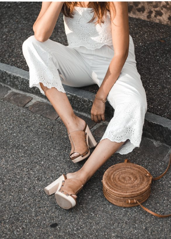all-white look