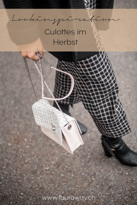 Karo Culottes Herbst Outfit