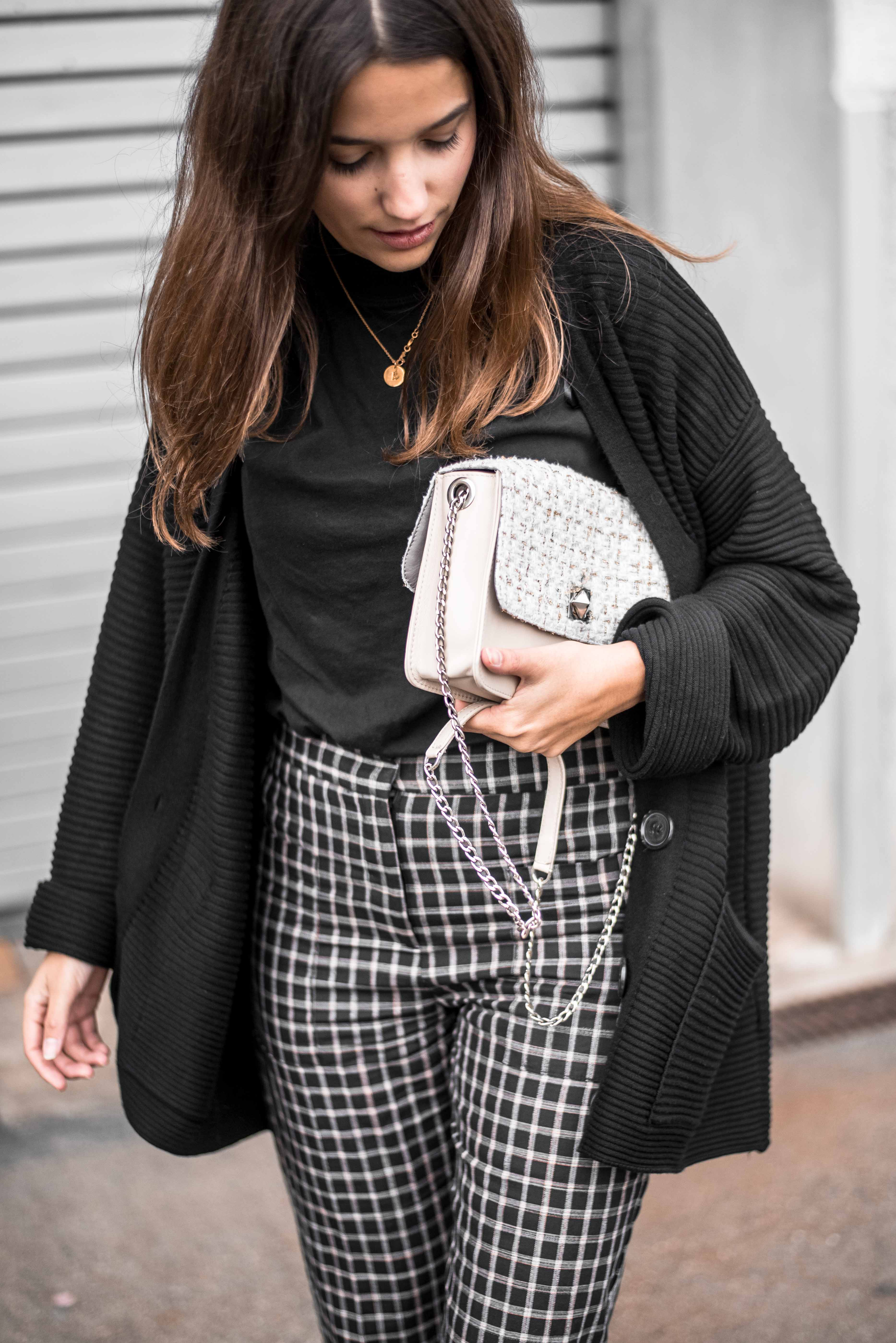 Karo Culotte Herbst Outfit