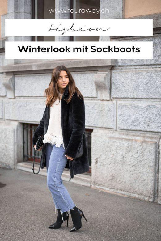 Winterlook mit Sockboots
